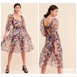 For love & lemons Faye sheer blossom dress